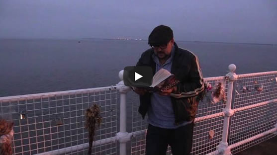 David Mark on location in Hull reads from <em>Dark Winter</em>