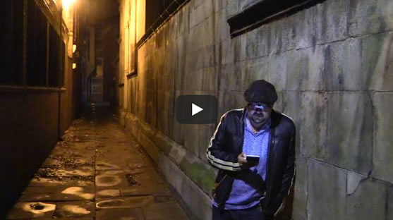 David Mark on location in Hull reads from Original Skin